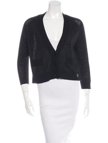 See by Chloé Cropped V-Neck Cardigan None