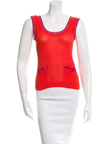 Sonia by Sonia Rykiel Sequin-Detailed Rib Knit Top None