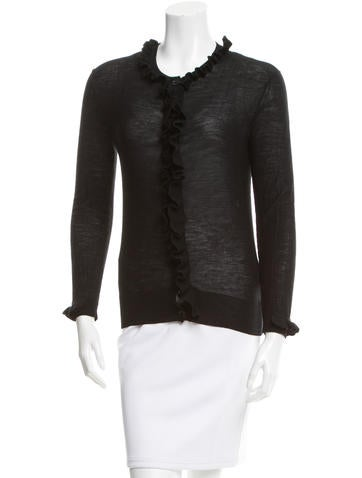Sonia by Sonia Rykiel Ruffle-Trimmed Knit Cardigan None