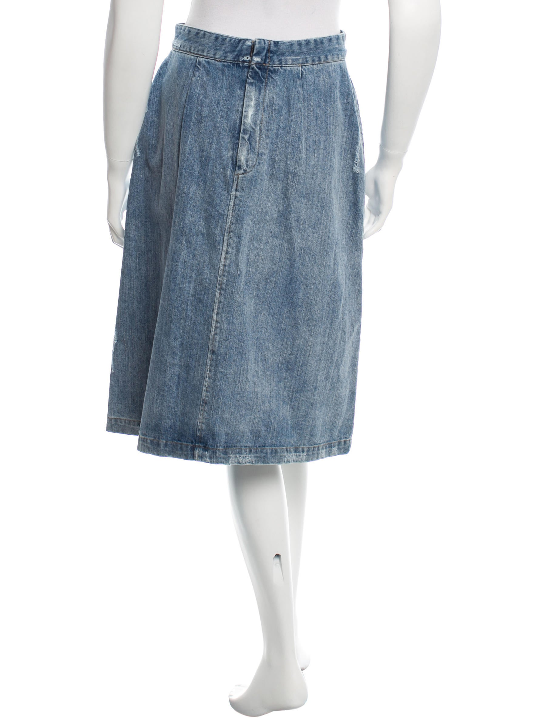 sea lace up denim skirt w tags clothing wssea21406