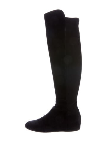Stuart Weitzman Mainland Wedge Boots None