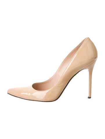 Stuart Weitzman Patent Leather Pointed-Toe Pumps None