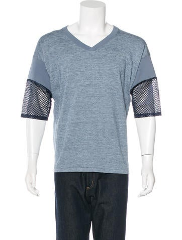 Toga V-Neck Mesh-Trimmed T-Shirt None