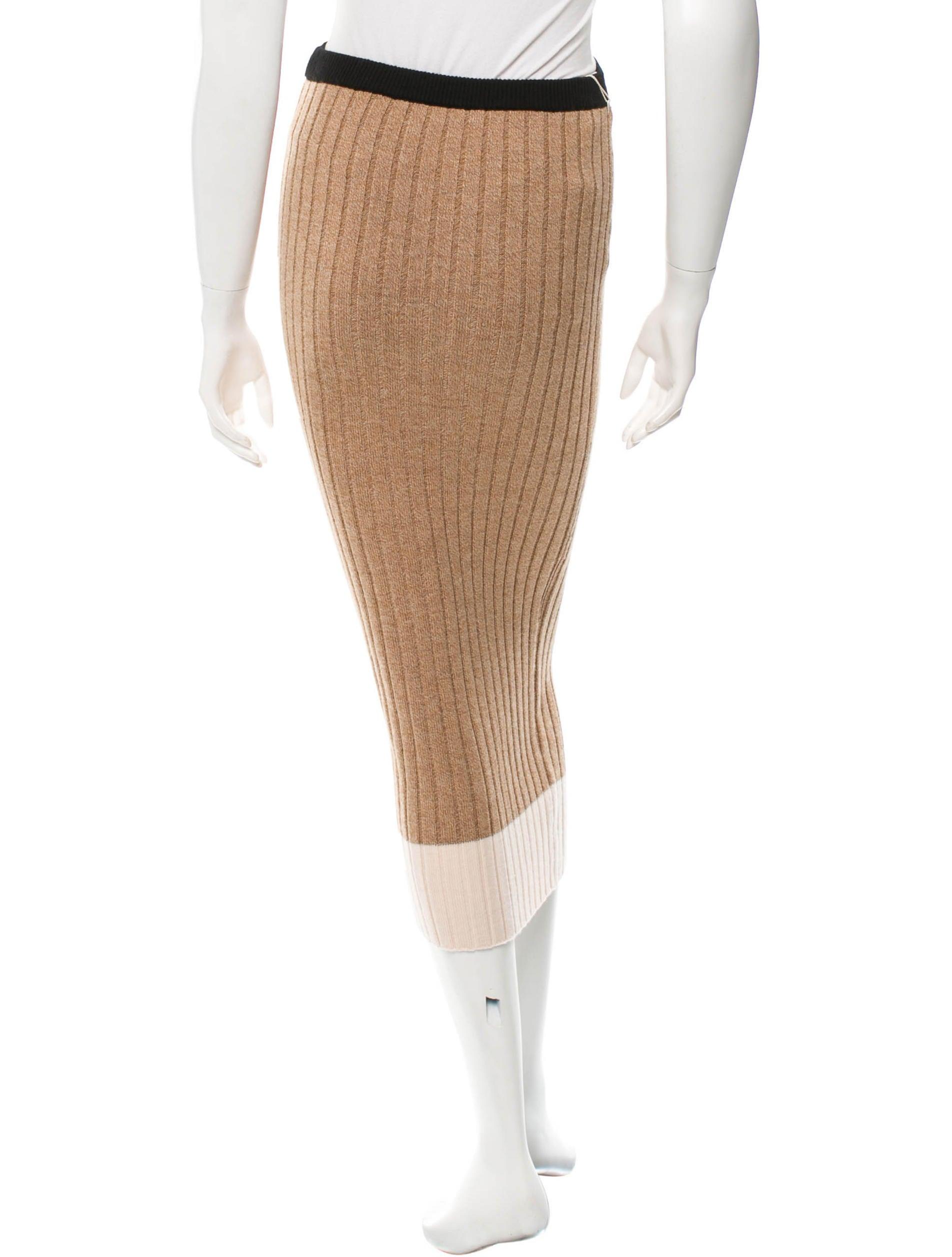 torn by ronny kobo wool midi pencil skirt skirts