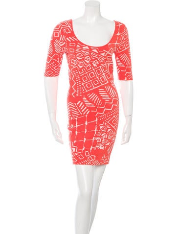 Torn by Ronny Kobo Patterned Bodycon Dress None