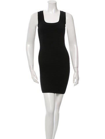 Torn by Ronny Kobo Ribbed Sleeveless Bodycon Dress None