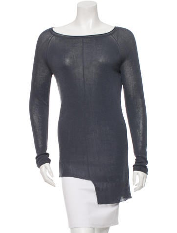 T by Alexander Wang Asymmetrical Crew Neck Sweater None