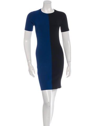 T by Alexander Wang Colorblock Knit Dress None