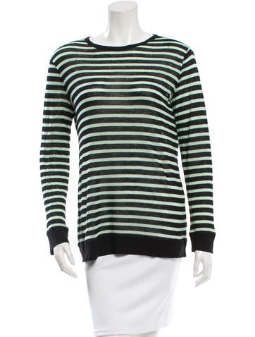 T by Alexander Wang Knit Striped Top None
