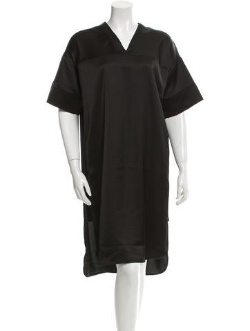 T by Alexander Wang Satin High-Low Dress w/ Tags None