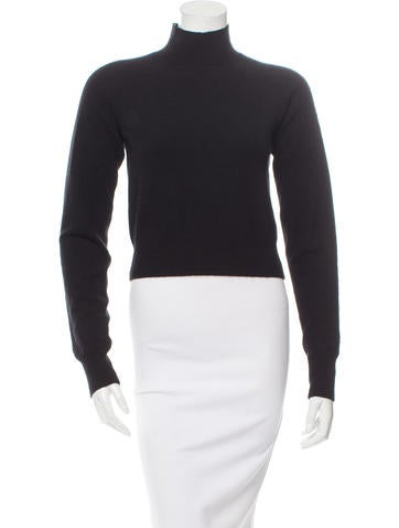 T by Alexander Wang Mock Neck Cropped Knit None