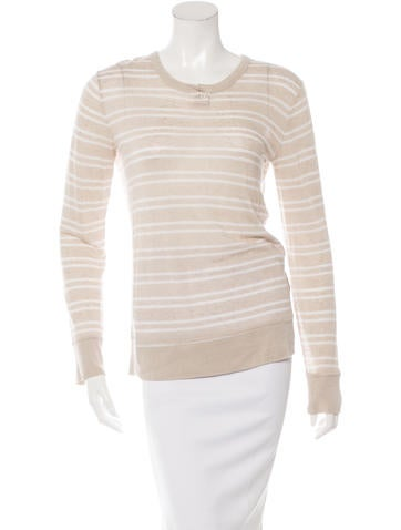 T by Alexander Wang Striped Long Sleeve Top None