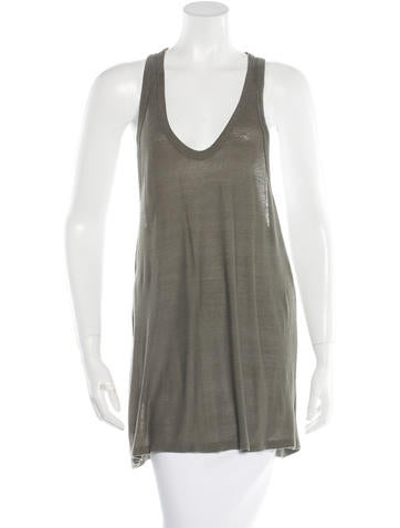 T by Alexander Wang Sleeveless Textured Top None