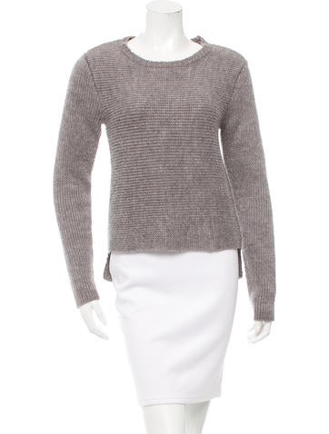 T by Alexander Wang Rib Knit Long Sleeve Sweater None