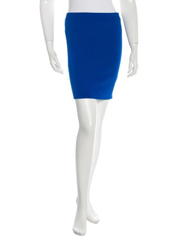 T by Alexander Wang Fitted Mini Skirt None