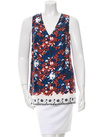 Thakoon Abstract Print Top None