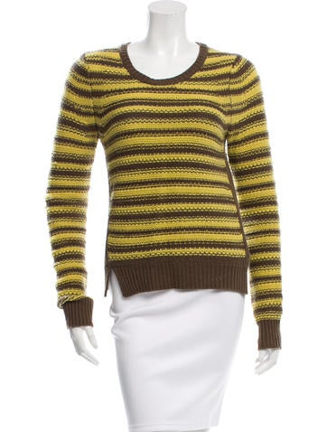 Thakoon Wool & Cashmere-Blend Striped Sweater None