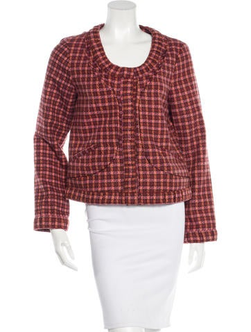 Thakoon Wool Pleat-Trimmed Jacket None