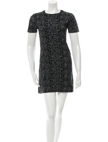 Theyskens' Theory Velvet-Accented Mini Dress None