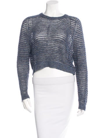 Theyskens' Theory Knit Linen Sweater None