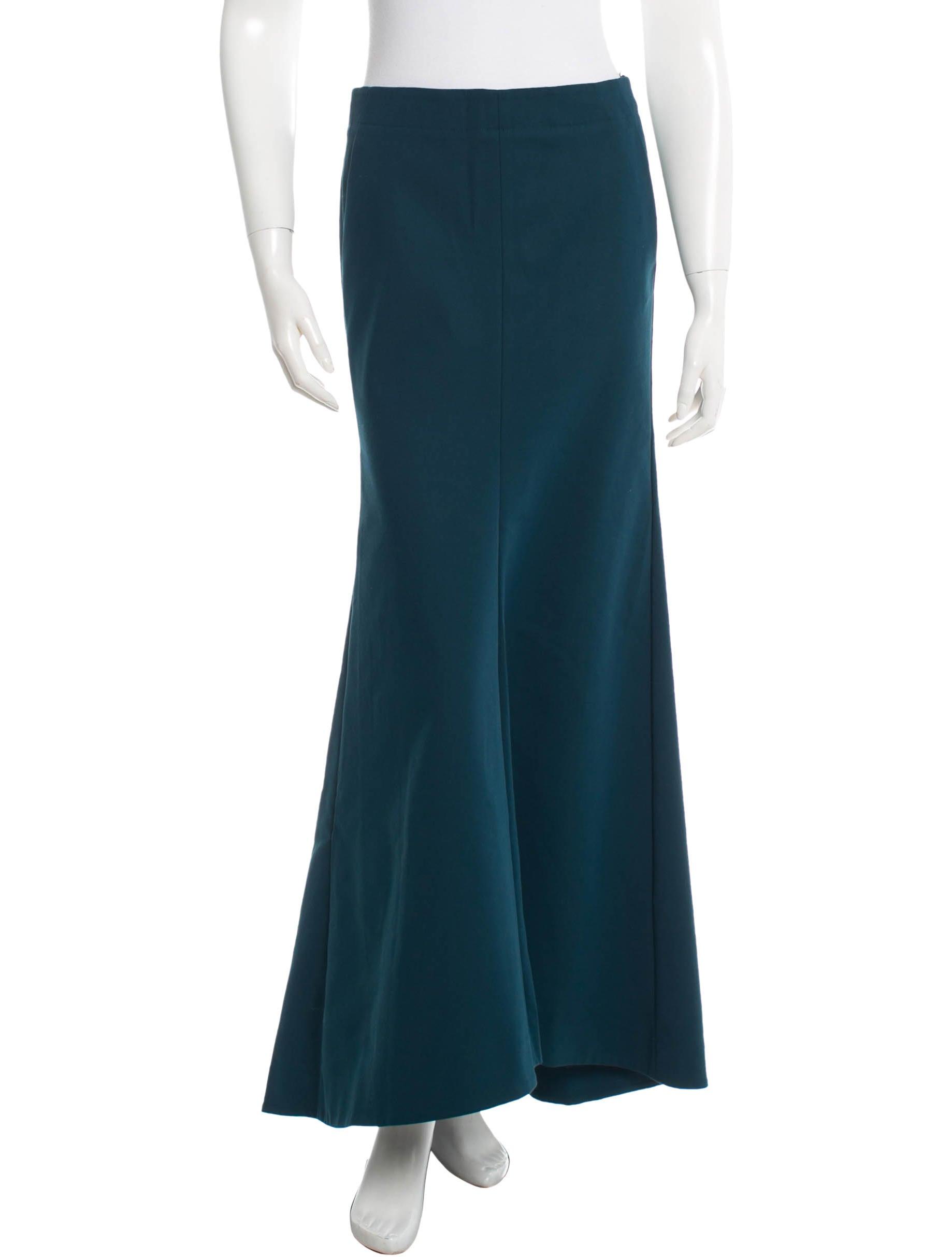 tibi teal maxi skirt skirts wti27549 the realreal