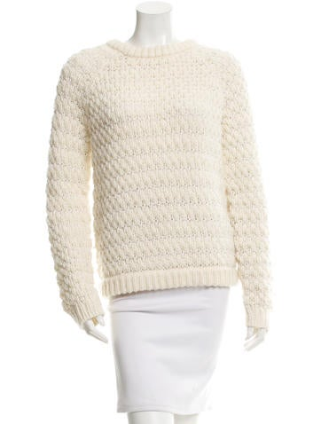 Tibi Textured Knit Sweater None