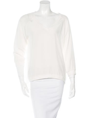 Tibi Silk Long Sleeve Top None