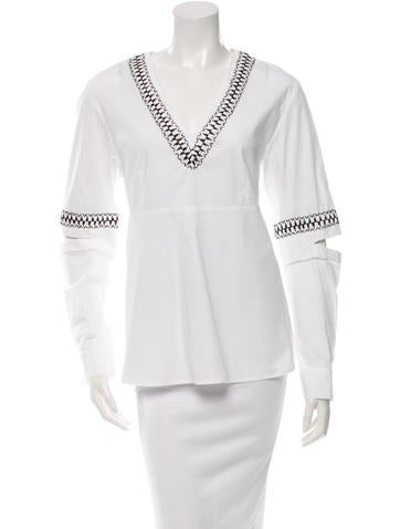 Thakoon Addition Casual Embroidered Top None