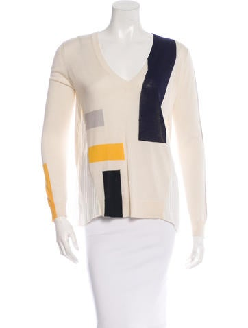 Thakoon Addition Long Sleeve Sheer-Paneled Sweater w/ Tags None