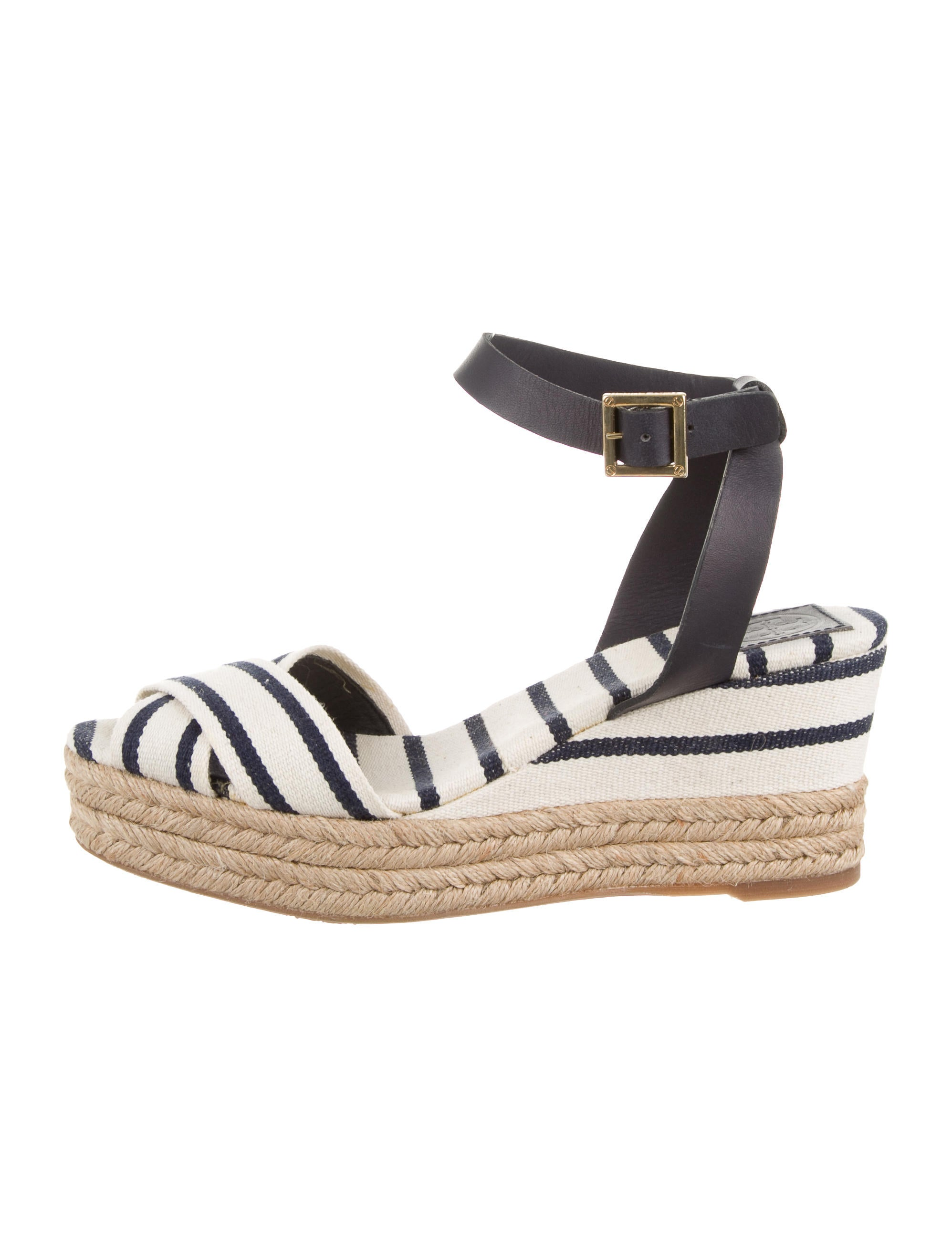 burch striped wedge sandals shoes wto54732 the