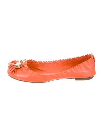 Tory Burch Tasseled Round-Toe Flats
