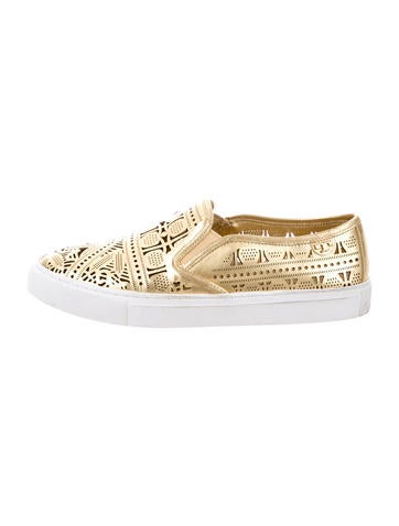 Tory Burch Metallic Slip-On Sneakers