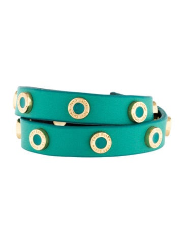 Tory Burch Cole Logo Double Wrap Bracelet