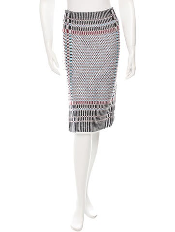 Tory Burch Patterned Knee-Length Skirt