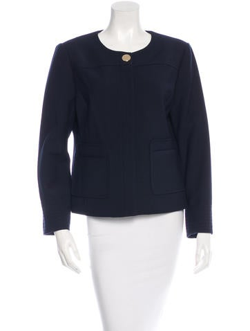 Tory Burch Collarless Fitted Jacket