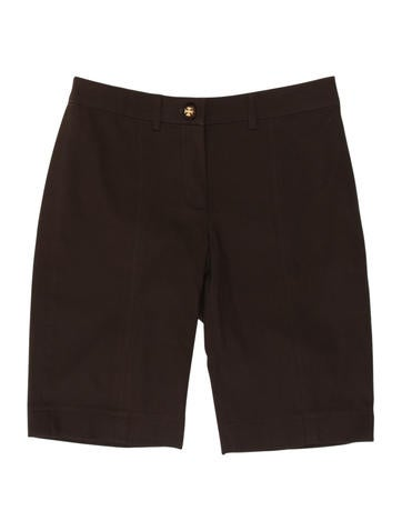 Tory Burch Ribbed Knee-Length Shorts None