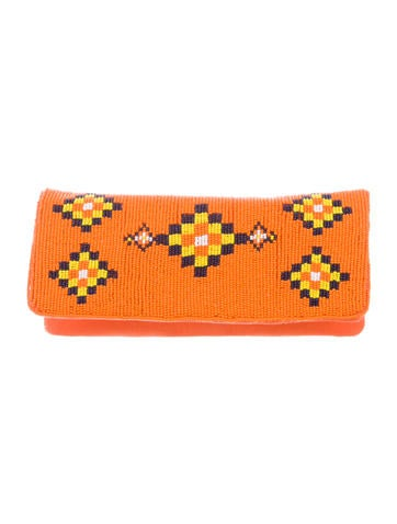 Tory Burch Long Beaded Clutch w/ Tags