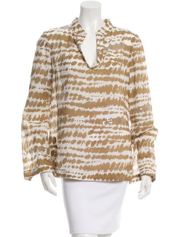 Tory Burch Sequin-Embellished None
