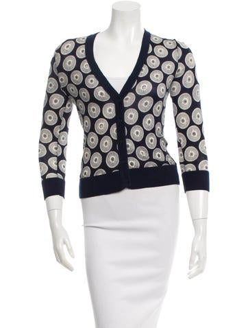 Tory Burch Patterned Wool Cardigan None