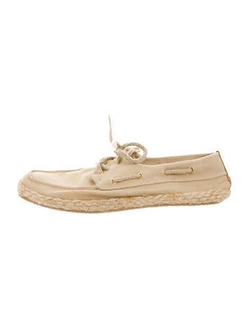 Tory Burch Canvas Lace-Up Espadrilles None