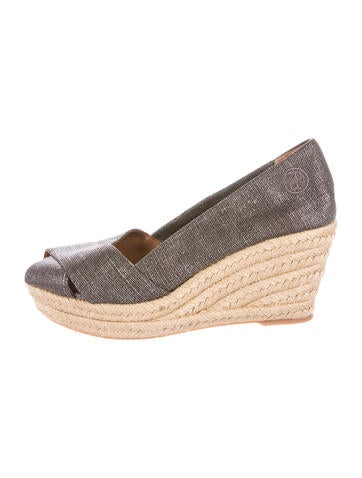Tory Burch Woven Wedge Sandals None