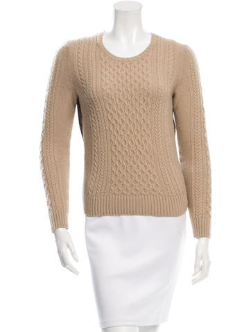 Tory Burch Pullover Cable-Knit Sweater None