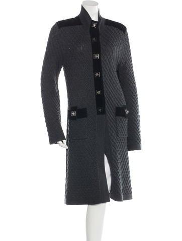 Tory Burch Wool Longline Cardigan None