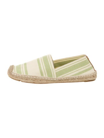 Tory Burch Round-Toe Woven Espadrilles None