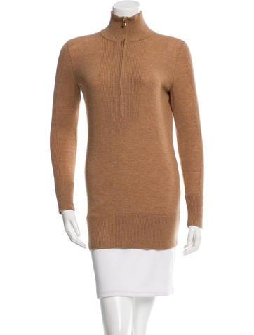 Tory Burch Wool Rib Knit Sweater None