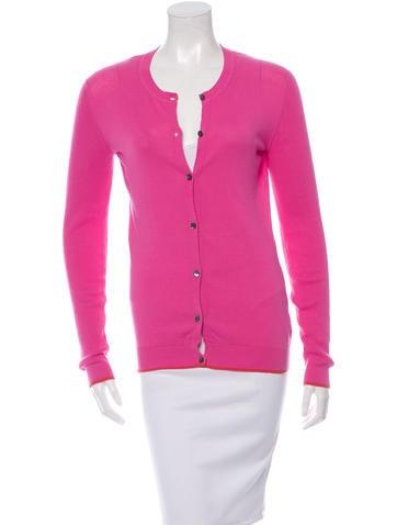 TSE Rib Knit Button-Up Cardigan None