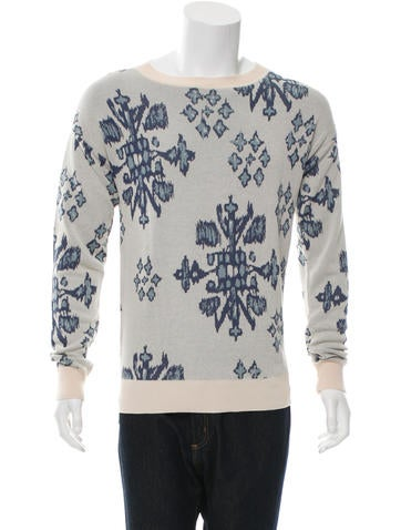 Baja East Patterned Pullover Sweater None