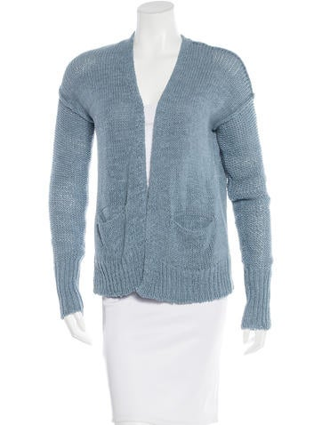 Crippen Rib Knit Long Sleeve Cardigan None