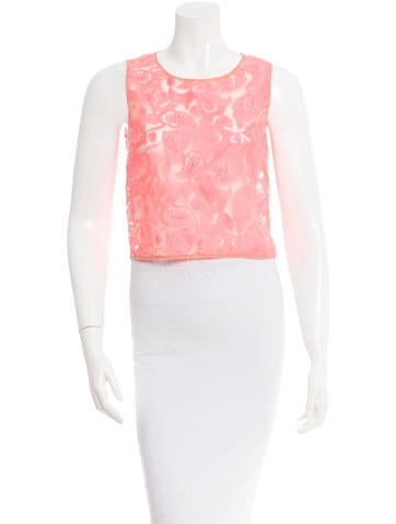 Veronica Beard Embroidered Top None