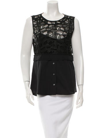 Veronica Beard Embroidered Sleeveless Top w/ Tags None